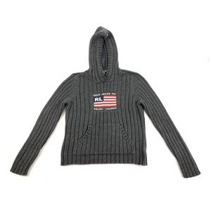 Polo Ralph Lauren American Flag Knit Sweater Gray